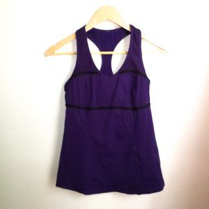 3/30$ LULULEMON Purple  Crossed Tank Top, size 6